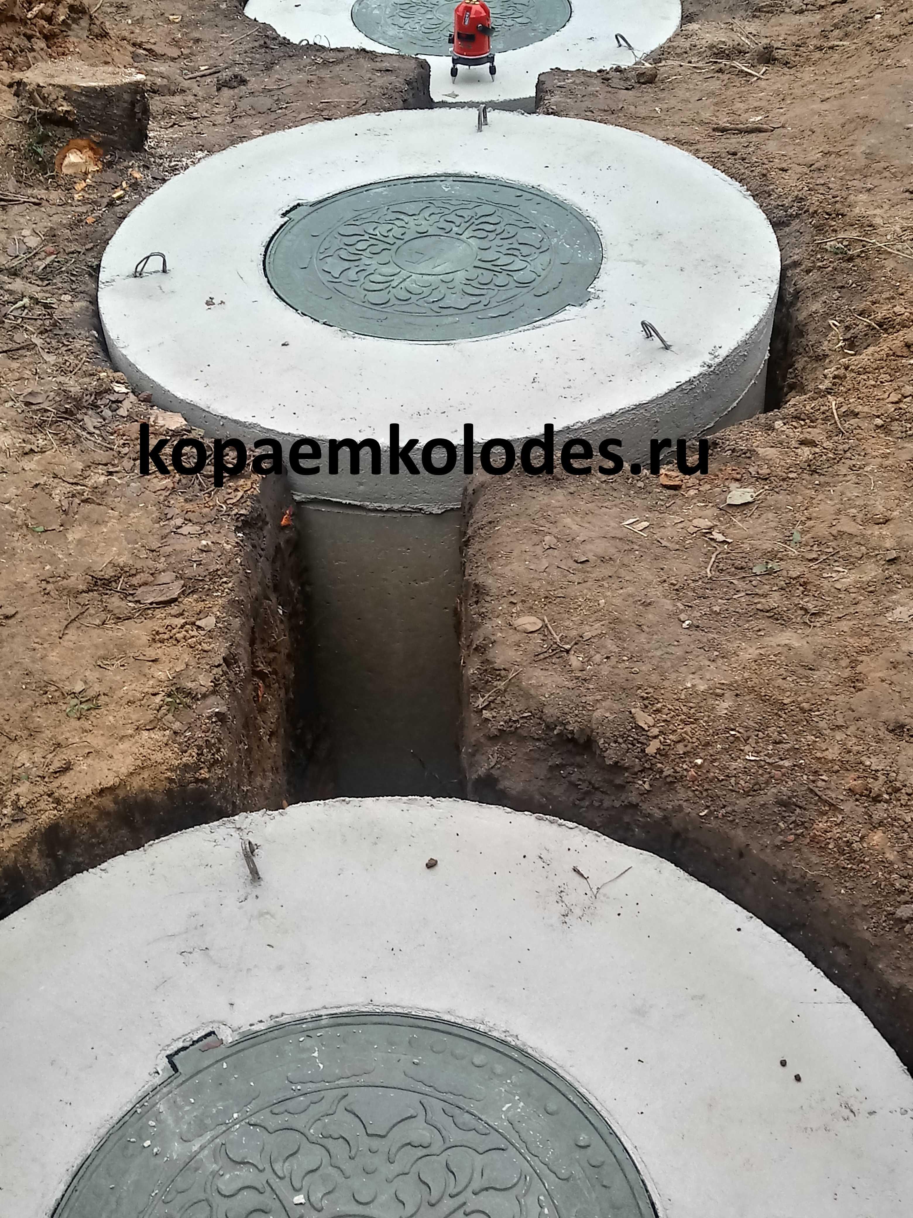 бетонный септик из колец